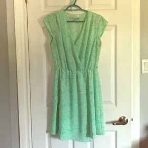 Green and white Dress